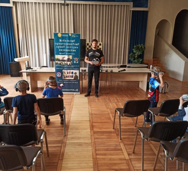 Мобильный мультимедийный музей истории казачества продолжает работать на летних каникулах